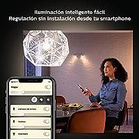 Philips Hue White - Paquete de 2 bombillas LED inteligentes GU10 ...