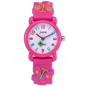 Reloj de pulsera para niña, resistente al agua, de cuarzo, con dibujos en 3D, regalo para niños, niños y niñas: Amazon.es: Hogar