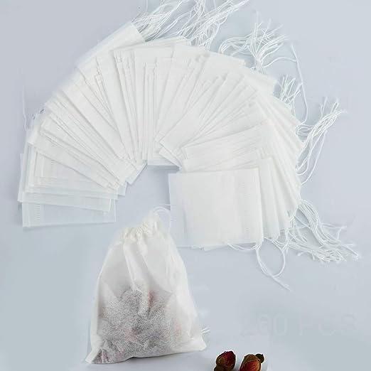200 bolsas desechables de filtro de té de 2.75 x 3.54 ...