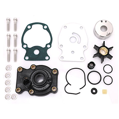 Hp Outboard Johnson 35 Motor (KONDUONE 18-3382 Water Pump Kit Impeller Housing for Johnson Evinrude 20 25 30 35 hp,Sierra,Mallory replaces # 393630 9-48211 - 3 months warranty)