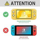 ProCase Nintendo Switch Lite Rubber Case, Slim Soft Shockproof TPU Cover Anti-Scratch Protective Case for Nintendo Switch Lite 2019 with 2 Pack Tempered Glass Screen Protectors –Black