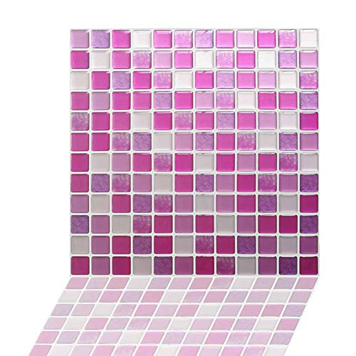(Wall Stickers for Bathrooms Peel and Stick 3D Wall Tile Anti Mold Anti Oil PET Backsplash for Kitchen Bathroom Brown Color(5 Tiles))