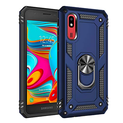 Case for Samsung SM-A260F/DS Galaxy A2 Core 2019 Galaxy Gio Case Cover .360 Degree Rotating Bracket Cover.for Galaxy A2 Core 2019 Galaxy Gio Blue (Cover Samsung Gio Galaxy)