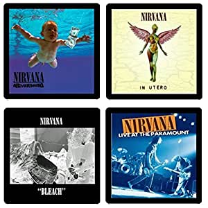 Nirvana Coaster Collection - (4) Different Album Covers Reproduced Onto Neoprene Coaster Set