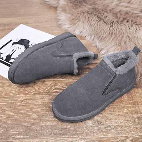 Algodón Moda Botas El Martin Zapatos Comodín Pan En Gray Gruesos Hombre Lovdram Para Invierno Nieve De Calientes 0wZTTqUx