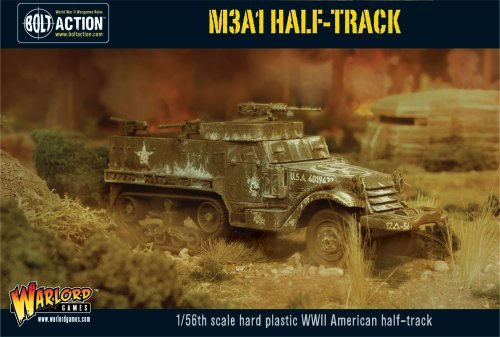 Bolt Action M3A1 Halftrack 1:56 WWII Military Wargaming Plastic Model Kit