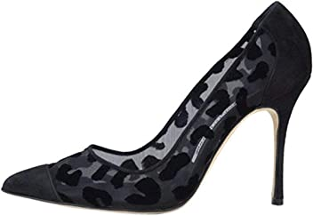 7517179069262 Manolo Blahnik Black Leopard BB Pumps