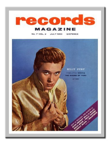 Iposters Billy Fury Sound Of Fury Print Magnetic Memo Board Silver Framed - 41 X 31 Cms (approx 16 X 12 Inches)