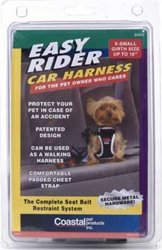 Easy Rider Car Extra Small Harness for Dogs, Black, My Pet Supplies