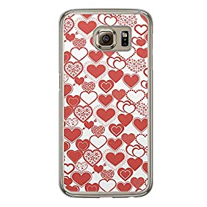 Loud Universe Samsung Galaxy S6 Love Valentine Printing Files A Valentine 88 Printed Transparent Edge Case - White/Red