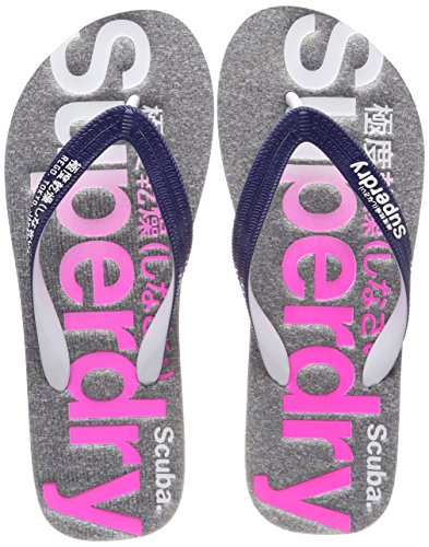 Iridescent Femme Tongs Logo Marl Superdry Grey Scuba Faded Multicolore Np7 Flop Flip x78YR7q