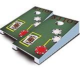 BLACKJACK Poker Casino Gambling Theme TABLETOP Desktop Cornhole Boards Game Set Bean Bag Tailgate Toss Mini Miniature