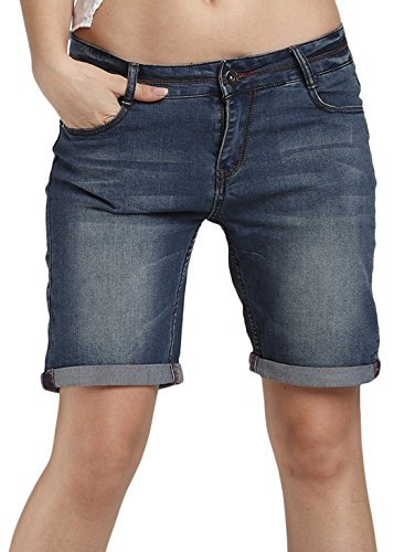 Basic 5 Pocket Denim Short (Chouyatou Women's Basic Five-Pocket Stretchy Denim Shorts-Plus Size (XX-Large,)