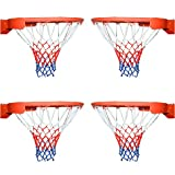 Arisingdeals Basketball Net All-Weather Thick Heavy Duty for Standard Outdoor or Indoor Basketball Hoop(4 Pack)