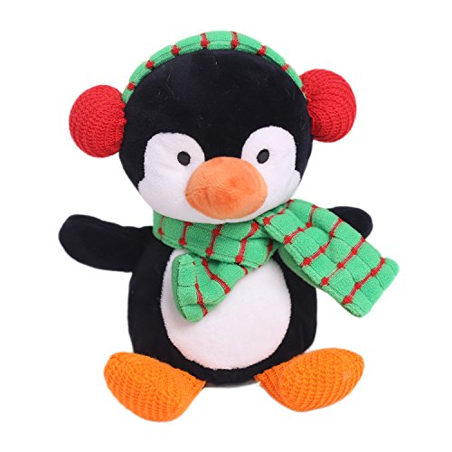 Christmas Penguin Plush toy Soft Stuffed Animal Christmas Gifts 10 inches Green By HollyHOME (Christmas Stuffed Animals)