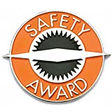 PinMart's Orange Safety Award Enamel Lapel Pin