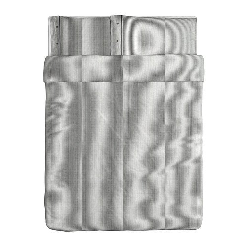IKEA Nyponros Duvet Cover and Pillowcase, Gray, Full/Queen (Best Ikea Quilts)
