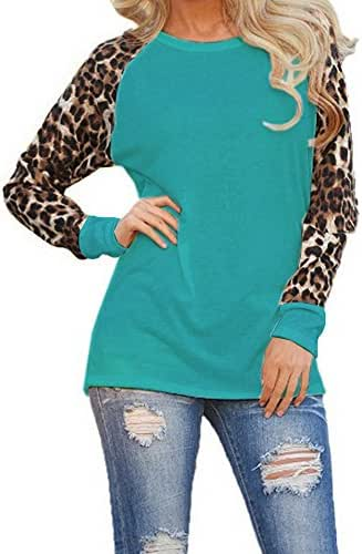 Tops for Women Plus Size Leopard Blouse Long Sleeve Fashion Casual Ladies T-Shirt Oversize Tops Tunic Shirt