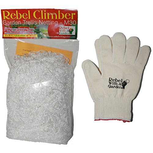 Rebel Climber Garden Trellis Netting And Cotton Garden Gloves By Rebel With  A Garden Heavy Duty