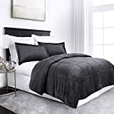 Sleep Restoration Micromink Goose Down Alternative Comforter Set - All Season Hotel Quality Luxury Hypoallergenic Comforter/Blanket with Shams - King/Cal King - Gray