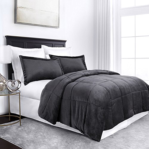 Sleep Restoration Micromink Goose Down Alternative Comforter Set - All Season Hotel Quality Luxury Hypoallergenic Comforter/Blanket with Shams - King/Cal King - ()
