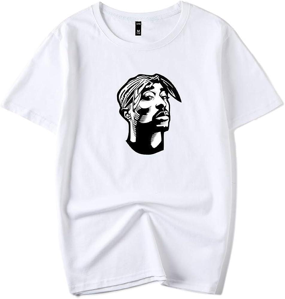2pac Camiseta Estilo Simple Hombres guapos Deportes Camiseta ...