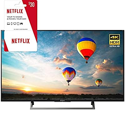 Sony XBR-43X800E 43-inch 4K HDR Ultra HD Smart LED TV (2017 Model) w/ 3 Month Netflix Subscription