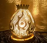 The Blaze | Gourd Lamp Shade Night Light Art Housewarming Unusual Unique Gift Idea Fire Nightstand Home Accent