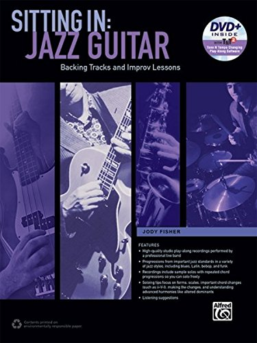 Sitting In -- Jazz Guitar: Backing Tracks and Improv Lessons, Book & DVD-ROM (Sitting In ()