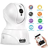 LIFU Wireless IP Camera, 1080P Home Security Surveillance Camera HD Pan and Tilt WiFi Camera Built-In Microphone with Night Vision for Pet, Baby Video Monitoring