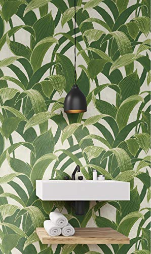 NextWall Banana Groves Peel and Stick Wallpaper (Green)