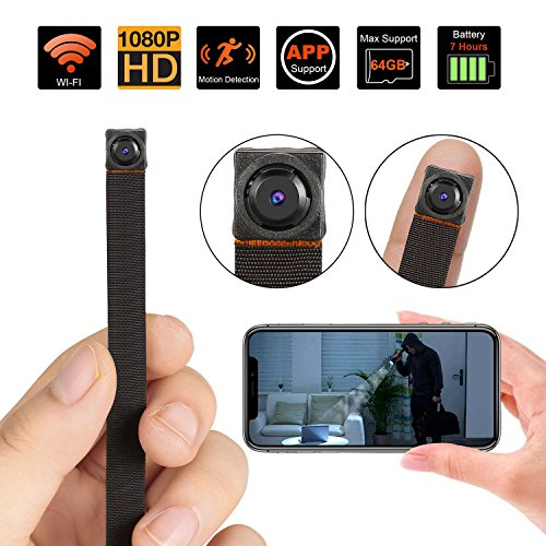 Spy Hidden Camera WiFi, Mini Hidden Camera Wireless 1080P HD Monitoring Security Camera with Motion Detection Nanny Camera Surveillance Cam for Home Office, Fit Indoor & Outdoor