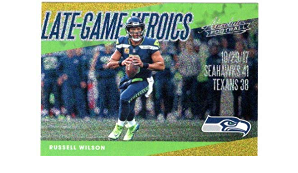 2018 Absolute Spectrum Gold Late Game Heroics Russell Wilson