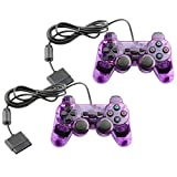 Controller for PS2 Playstation 2 Wired (Purple) - 2