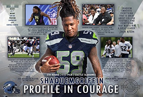 PosterWarehouse2017 SHAQUEM GRIFFIN - SEAHAWKS INSPIRATIONAL DRAFT CHOICE - COMMEMORATIVE POSTER