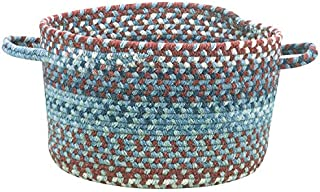 """product image for Capel Rugs Kill Devil Hill Braided Basket, 16"""" x 9"""", Blue"""