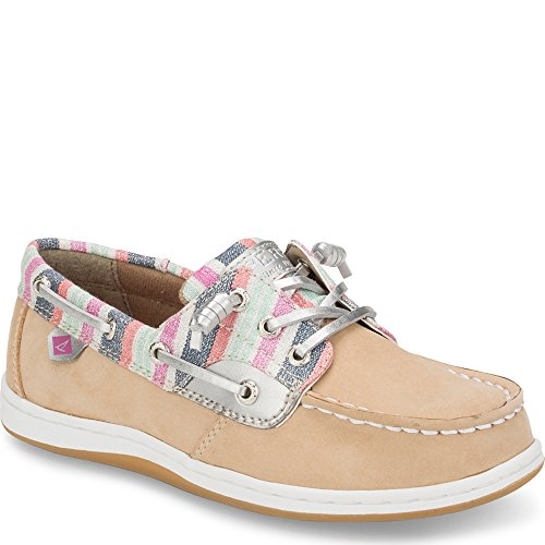 Sperry Songfish Boat Shoe (Little Kid/Big Kid), Brown, 12.5 Medium US Little Kid