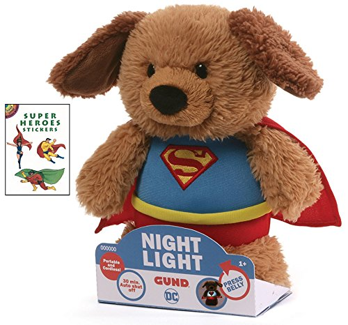 Freddy The Frog Mascot Costumes (Gund Superman Nightlight 8 in Plush Animal with Super Heroes Sticker Book)