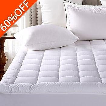 mattress pad cover queen size pillowtop 300tc down alternative mattress topper with 821inch deep pocket - Mattress
