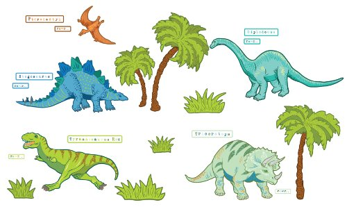 Wall Pops  WPK0630 Dinosaur Expedition Wall Decals