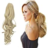 """FUT Womens Claw Ponytail Clip in Hair Extensions 18"""" Long Curly Hairpiece"""