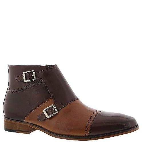 2782597f554 STACY ADAMS Men's Kason Cap Toe Double Monk Strap Side Zipper Boot Chukka