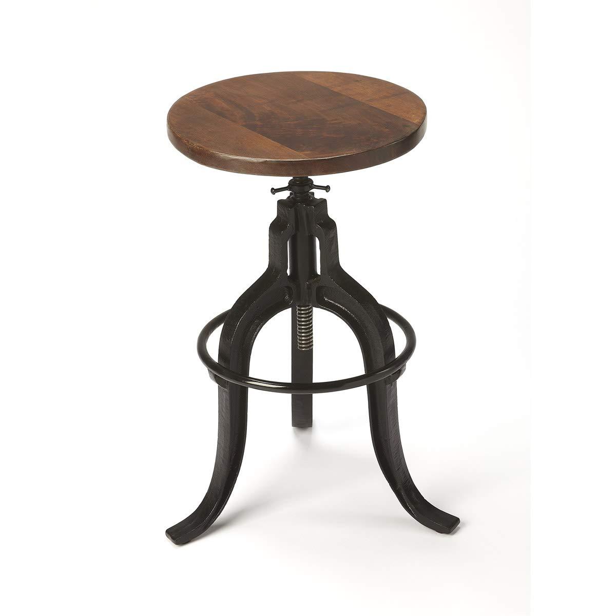 Incredible Amazon Com Butler Gladney Iron Revolving Bar Stool Kitchen Machost Co Dining Chair Design Ideas Machostcouk