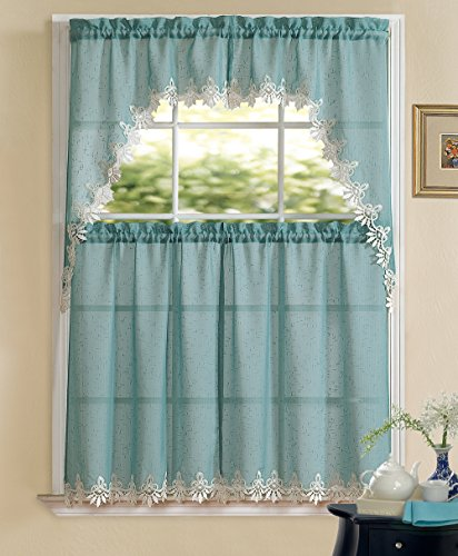 Regal Home Collections 3-Piece Orchard Macrame Lace Complete