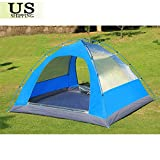 3-4 Person Double Layer Waterproof 4 Season Family Camping Hiking Tent Aluminum