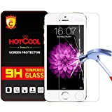 iPhone SE/5S/5C/5 Screen Protector - HOTCOOL [Tempered Glass] Screen Protector With 0.26mm Ultra Thin 9H Hardness 2.5D Round Edge For iPhone SE/5S/5C/5 Smartphone, Tempered Glass