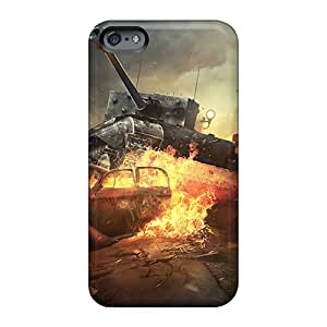Shockproof Cell-phone Hard Covers For Apple Iphone 6 With Provide Private Custom HD World Of Tanks Online Game Skin DanLuneau