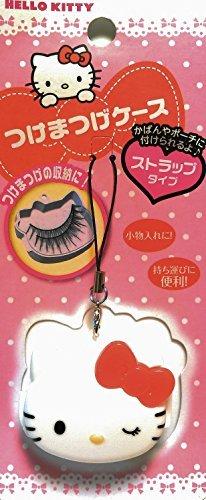 Hello Kitty Cosmetics Case White (strap type, mobile) | Sanrio Licensed (case for Eyelash, Nail etc) [Japan Import] -