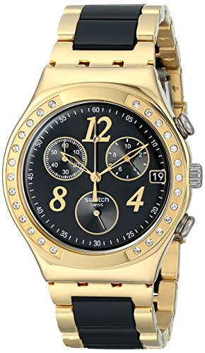 Swatch Women s YCG405G Dreamnight Analog Display Analog Quartz Two Tone Watch