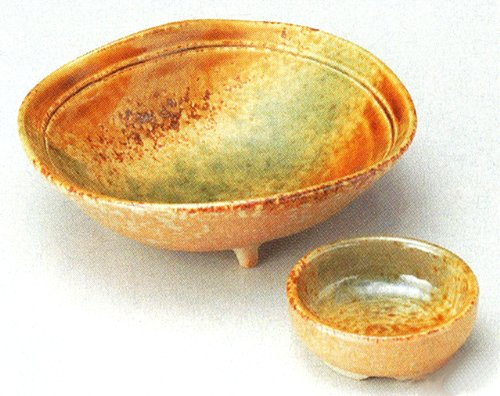 SANSAI Tohki Japanese traditional pottery SASHIMI or SUSHI Plate and Soy-sauce bowl Set of 10 by Watou.asia
